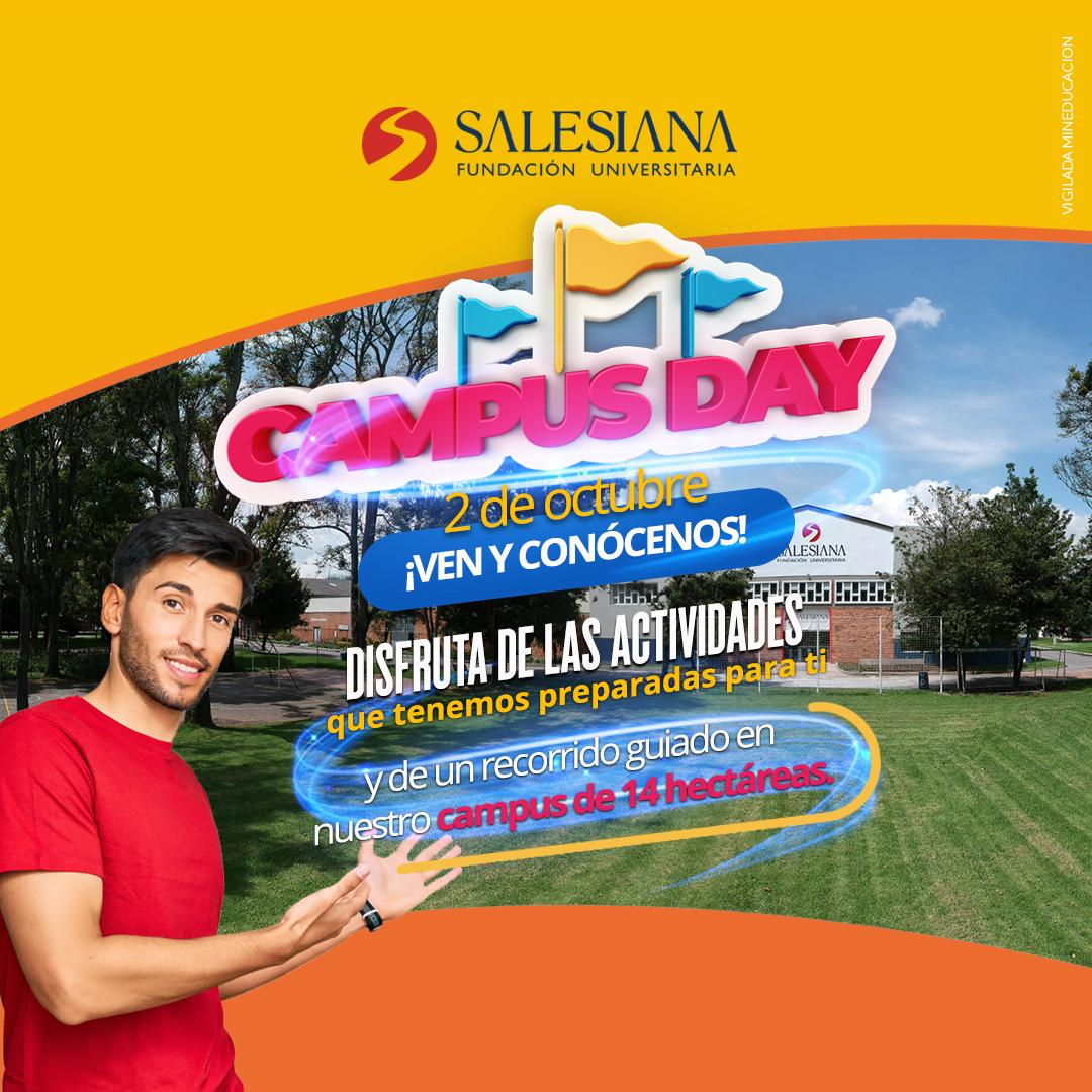 2 de octubre Campus Day: SALESIANA abrió sus puertas a más interesados y aspirantes
