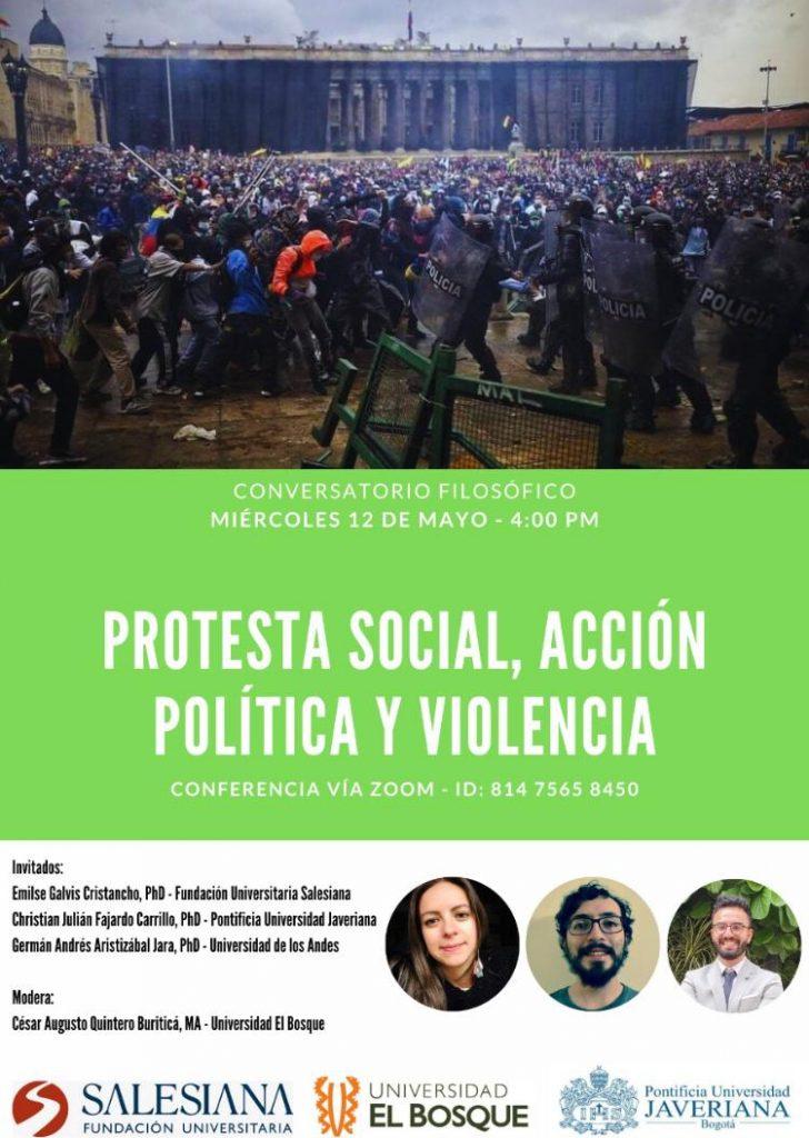 Conversatorio filosófico: Protesta social, acción política y violencia 9