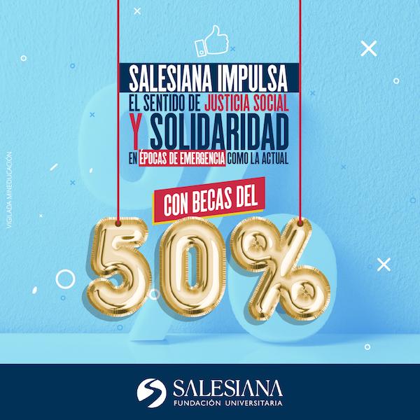 SALESIANA otorgará descuentos del 50 % en sus matrículas