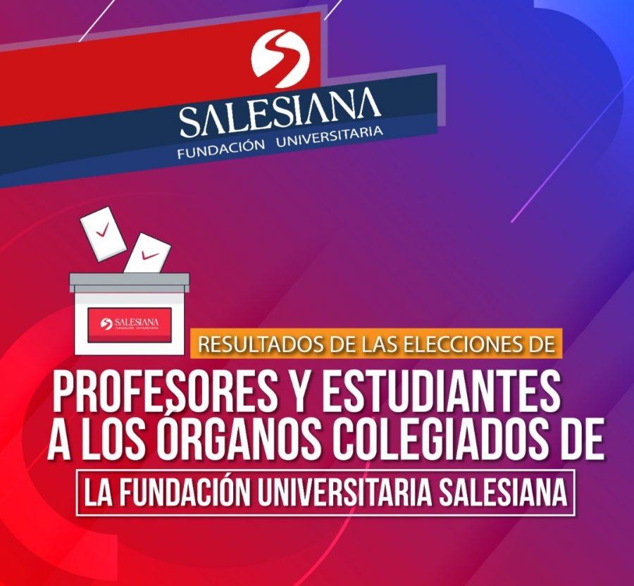 Resultados de las elecciones de profesores y estudiantes a los órganos colegiados de la Fundación Universitaria Salesiana 10