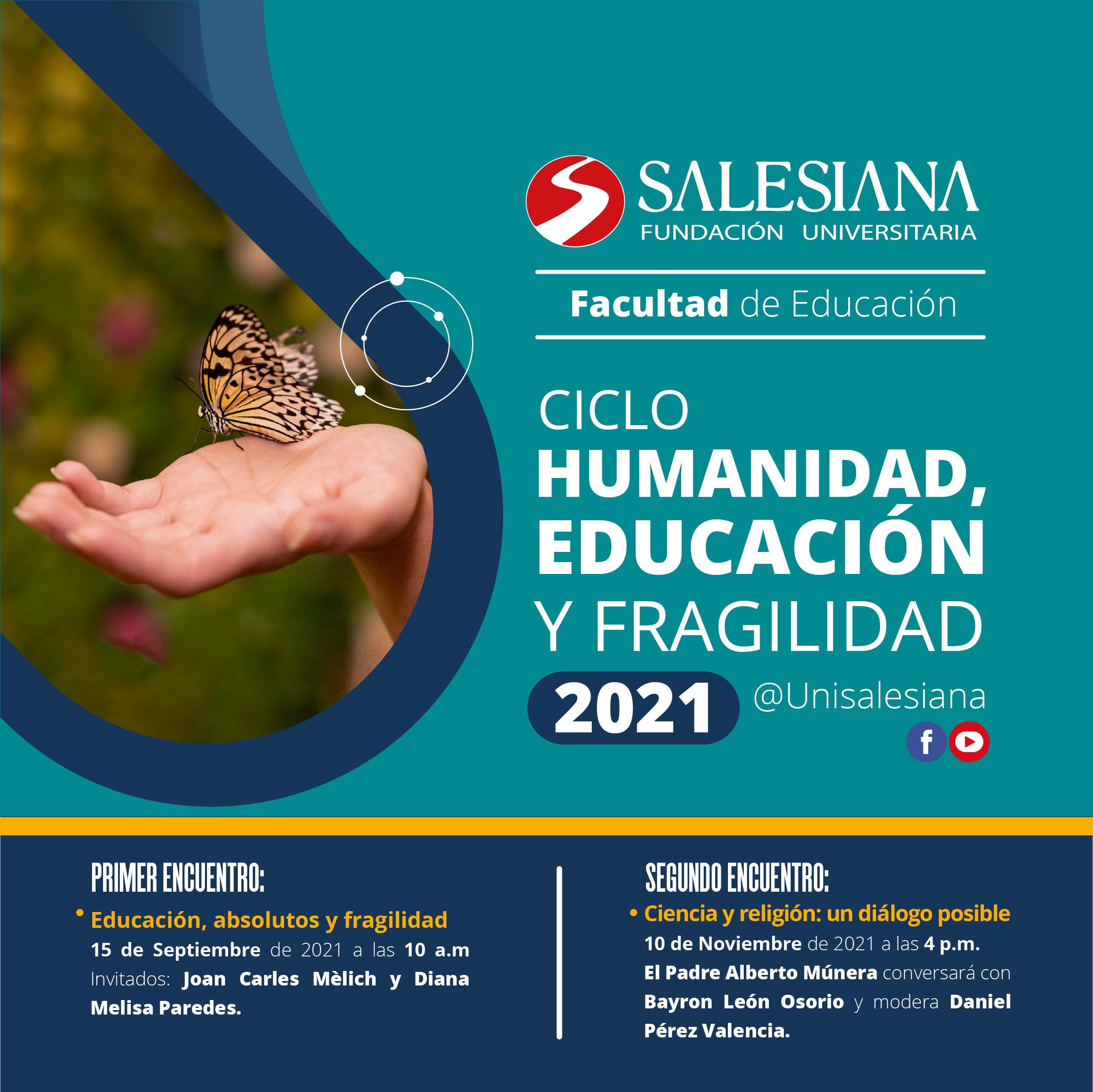 En SALESIANA Ciclo de charlas: Humanidad, educación y fragilidad 38