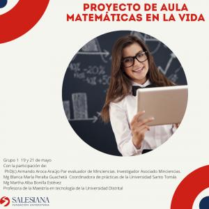 Eventos internos: proyecto de aula 'Matemáticas en la vida' grupo 1 16